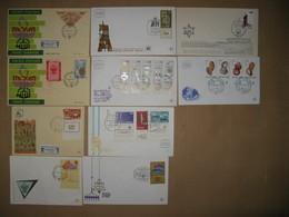 LOT DE 10 FDC 1958 A 1977 TOUTES DIFFERENTES SOIT 20 TIMBRES DIFFERENTS OBLITERES - Storia Postale