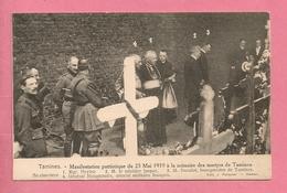C.P. Tamines = 25.05.1919 : Manifestation Patriotique à La Mémoire Des Martyrs : Au  CIMETIERE - Sambreville