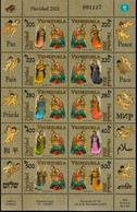 MB 28) Venezuela 2001 Mi 3462-3471 KB **: Weihnachten, Frieden, Musizierende Engel - Music