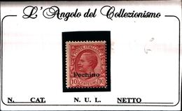 93539) ITALIA-10C. Emissioni Ordinarie Soprastampate Pechino - 1917 -UN PEZZO-MLH* - 11. Foreign Offices
