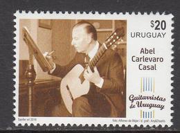 2018 Uruguay Abel Casel Music Guitar Complete Set Of 1 MNH - Uruguay