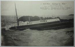 SAINT MALO Naufrage Du Hilda Aspect De L'épave à Grande Marée - Saint Malo
