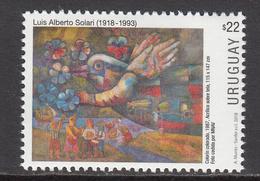 2018 Uruguay Art Paintings Luis Solari Complete Set Of 1 MNH - Uruguay