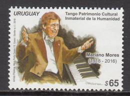 2018 Uruguay Mariano Mores Music Piano Tango Complete Set Of 1 MNH - Uruguay
