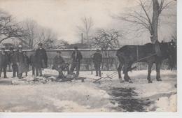 CPA Bray-Lû (?) Ou Environs (d'après L'origine De La Carte) Datée Du 4 Mars 1909 - Traîneau Artisanal Avec 2 Chevaux - Frankreich