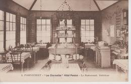 """CPA Pornichet - """"Les Charmettes"""" Hôtel Pension - Le Restaurant, Intérieur - Pornichet"""