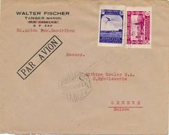 J71 - Marcophilie - Lettre De Madrid Espagne à Genève Suisse - Par Avion - 1943 - 1931-50 Covers