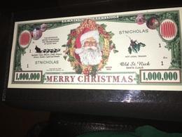 Novelty Dollar- Merry Christmas Old St Nick Santa Claus 1,000,000 One Million - USA