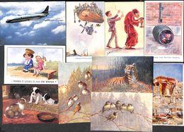 Fantaisie - Lot 29 Cartes (Tuck Patriotique Butterfly Sabena Disney...) - Fantasie