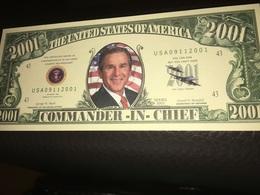 See Photographs. George Bush Commander In Chief 9/11 Novelty Dollar Bill - USA