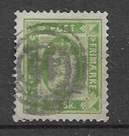 1871 USED Danmark Mi 3A Perf 14: 13 1/2 - Officials