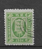 1871 USED Danmark Mi 3B Perf 12 1/2 Inverted Watermark - Dienstzegels