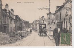 CPA Reims - Rue Du Barbatre (animation Avec Attelage) - Reims