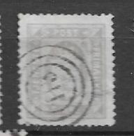 1875 USED Danmark Mi 4A Perf  14:13 1/2 Watermark Crown - Service