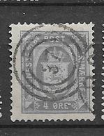 1875 USED Danmark Mi 5AbA Perf  14:13 1/2 Watermark Crown (ultramarine) - Service