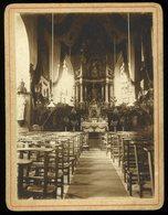 Photographie Enghien Belgique Interieur De La Chapelle Des Pères Jésuites 1912 9 X 12 Cm - Places