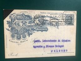 MARSALA (TRAPANI) PREMIATA FATTORIA VINI MARSALA E VERMOUTH G. MARTINEZ VERNETTI & C. 1928  UVA VINO - Marsala