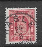 1875 USED Danmark Mi 6B Perf 12 1/2 Watermark Crown - Service