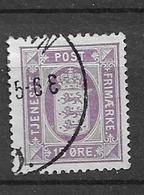 1914 USED Danmark Mi 17 Watermark Crosses - Officials