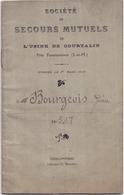 77 Société De Secours Mutuels De L'Usine De Courtalin Près FAREMOUTIERS - Livret De Participant De Pierre BOURGEOIS - Faremoutiers
