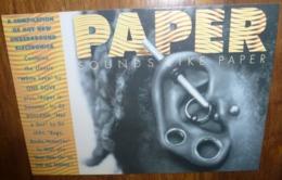 Carte Postale - Sound Like Paper (Piercing - Oreille Percée) Paper Magazine - Publicité