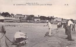 GABON Gabün ( Ex AEF ) LIBREVILLE : Vue D'ensemble Prise Du Wharf - CPA - Afrique Noire / Black Africa - Gabon