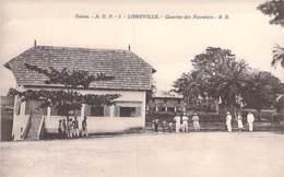 GABON Gabün ( Ex AEF ) LIBREVILLE Quartier Des Gardes Forestiers - CPA Afrique Noire  Black Africa - Gabon