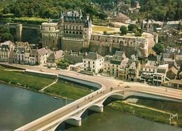 37 Amboise Le Château Et Le Pont Sur La Loire (2 Scans) - Amboise