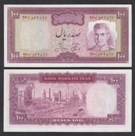 PERSIEN - PERSIA - IRAN 100 RIALS (1973) Pick 91c Sig.13 UNC (1) Shah Reza - Banknoten