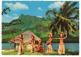 Polynésie Française -- TAHITI  - Un Temps Magnifique Pour Danser  (animée),musiciens,danseuses... ..à Saisir - Polynésie Française