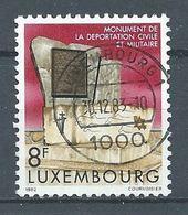 Luxembourg YT N°1012 Monument De La Déportation Civile Et Militaire Oblitéré ° - Oblitérés