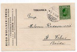 1930 YUGOSLAVIA, CROATIA,VINKOVCI, ADVERTISEMENT CARD, HUGO WOOLNER I DRUG, ZAGREB, USED - Croatia