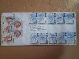 Enveloppe Du Guatemala Envoyée En Argentine Avec Beaucoup De Timbres Modernes - Guatemala