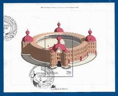 Portugal  1992  Mi.Nr. Sheet 92 (1945) , 100 Jahre Stierkampfarena Campo Pequeno - Gestempelt / Fine Used / (o) - Gebraucht