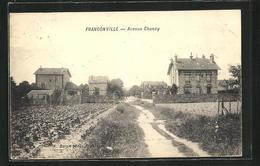 CPA Franconville, Avenue Chanzy, Vue De La Rue Avec Les Champs - Franconville