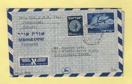 Israel - Aerogramme - Destination SAAR - 11-5-1952 - Covers & Documents