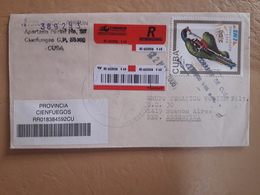 Enveloppe De Cuba Diffusée En Argentine Avec Timbre Perroquet - Parrots