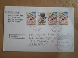 Enveloppe Coréenne Diffusée En Argentine Avec Timbre Moderne 2008 - Korea, South