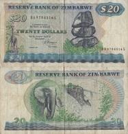 Zimbabwe / 20 Dollars / 1983 / P-4(c) / FI - Zimbabwe
