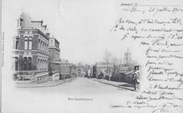 AVESNES - RUE CAMBRESIENNE - CARTE PRECURSEUR ANIMEE - 1902 - Avesnes Sur Helpe