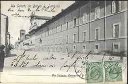 Un Saluto Da Borgo ( Fidenza  2700 Habitants ) S. Donnino  CPA 1908  Da Soragna - Other Cities