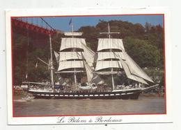 Cp, Bateau ,voilier ,le BELEM à BORDEAUX ,voyagée - Segelboote