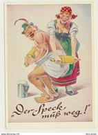 AK  Humor Nudelholz Massage Speck Muss Weg - Humour