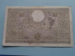 100 Fr. - 20 Belgas / 6122.T.863 ( 01.04.39 ) 153043863 > Janssen-Sontag ( For Grade, Please See Photo ) ! - [ 2] 1831-... : Belgian Kingdom