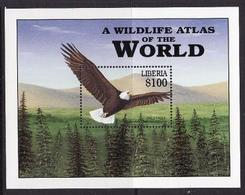 Liberia, 2001, Eagl, Block - Eagles & Birds Of Prey