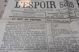 JOURNAL L ESPOIR SANS PEUR SEPTEMBRE 1926 BOLBEC GRANDE TRAPPE EN VELO ECOLE ST MICHEL - Journaux - Quotidiens