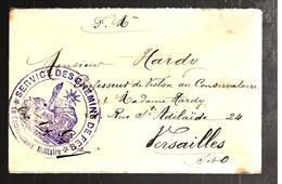 29642 - SERVICE DES CHEMINS DE FER - Marcophilie (Lettres)