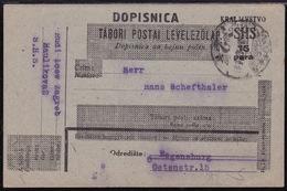 Croatia SHS, 15 Para Postcard, Sent From Zagreb (January 1921) - 1919-1929 Regno Dei Serbi, Croati E Sloveni