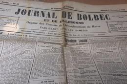 JOURNAL DE BOLBEC 8 11 1924 GRUCHET LE VALASSE ST ANTOINE LA FORET ROLLEVILLE ST JEAN DE LA NEUVILLE - Journaux - Quotidiens