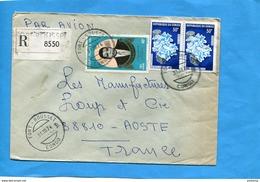 MARCOPHILIE-CONGO-Lettre REC >Françe Cad Fort Rousset 1974-3 -stamps N° A 165 N'goua+259 Champignons - Congo - Brazzaville